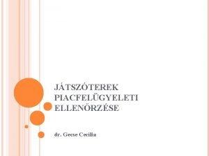 JTSZTEREK PIACFELGYELETI ELLENRZSE dr Gecse Ceclia 2004 eltt