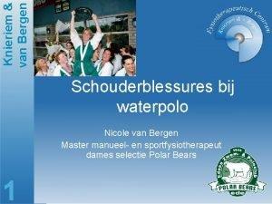 Knieriem van Bergen Schouderblessures bij waterpolo Nicole van