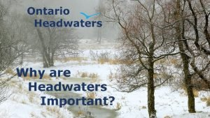 Why are Headwaters Important Before we start just