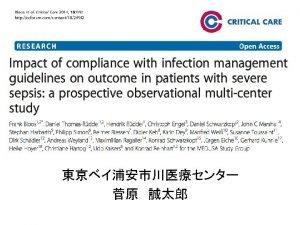 PICO Patient Severe sepsisSeptic shock Intervention source control