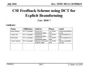doc IEEE 802 11 100806 r 0 doc