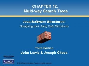 CHAPTER 12 Multiway Search Trees Java Software Structures