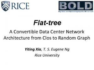 Flattree A Convertible Data Center Network Architecture from