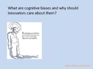 What are cognitive biases and why should innovators
