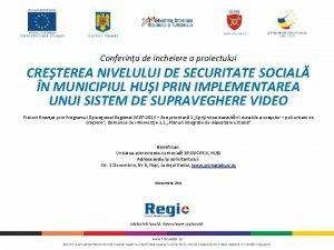 Conferina de incheiere a proiectului CRETEREA NIVELULUI DE