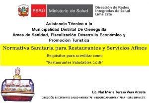Asistencia Tcnica a la Municipalidad Distrital De Cieneguilla