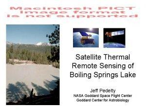 Satellite Thermal Remote Sensing of Boiling Springs Lake