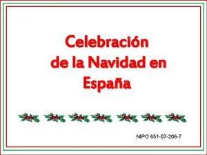 Celebracin de la Navidad en Espaa NIPO 651