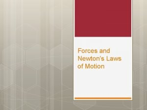 Forces and Newtons Laws of Motion What is
