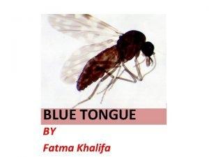 BLUE TONGUE BY Fatma Khalifa Synonyms Sore mouth