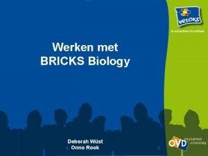 Werken met BRICKS Biology Deborah Wst Onno Rook
