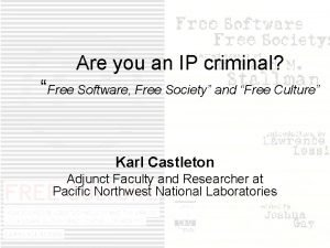 Are you an IP criminal Free Software Free