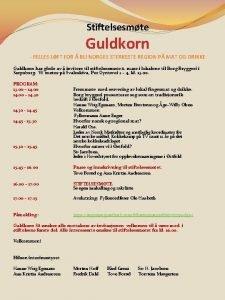 Stiftelsesmte Guldkorn FELLES LFT FOR BLI NORGES STERKESTE