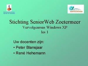 Rabobank Zoetermeer Sponsor vh Senior Web Stichting Senior