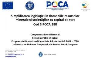 Simplificarea legislaiei n domeniile resurselor minerale i societilor