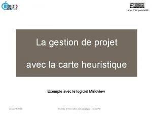 JeanPhilippe MINIER La gestion de projet avec la