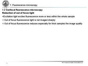 7 Fluorescence microscopy 7 2 Confocal fluorescence microscopy