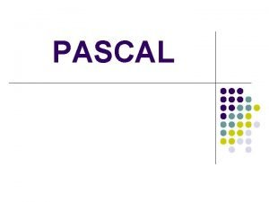 PASCAL program summa var x y k z
