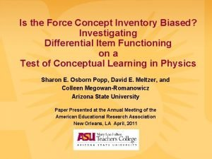 Is the Force Concept Inventory Biased Investigating Differential