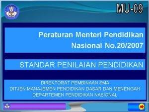Peraturan Menteri Pendidikan Nasional No 202007 STANDAR PENILAIAN