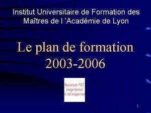 Institut Universitaire de Formation des Matres de l