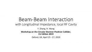BeamBeam Interaction with Longitudinal Impedance local RF Cavity