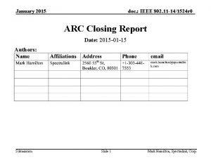 January 2015 doc IEEE 802 11 141524 r