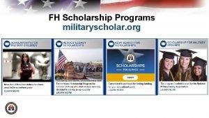 FH Scholarship Programs militaryscholar org FHF Scholarship Programs