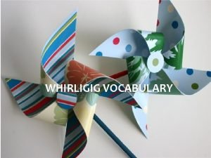 WHIRLIGIG VOCABULARY Chapter 1 Careen verb to sway