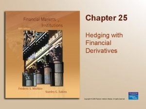 Chapter 25 Hedging with Financial Derivatives Chapter Preview
