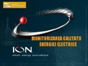 MONITORIZAREA CALITATII ENERGIEI ELECTRICE CALITATEA ENERGIEI ELECTRICE STANDARDE