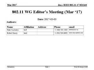 Mar 2017 doc IEEE 802 11 170313 r