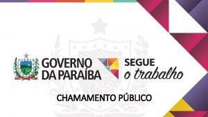 CHAMAMENTO PBLICO Caractersticas sociodemogrficas da Paraba Regio Nordeste
