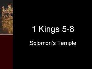 1 Kings 5 8 Solomons Temple 1 Kings