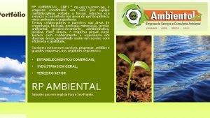 Portflio RP AMBIENTAL CNPJ 09 493 7240001 99