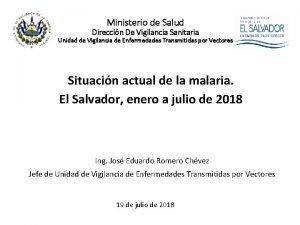 Ministerio de Salud Direccin De Vigilancia Sanitaria Unidad