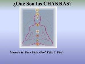 Qu Son los CHAKRAS Maestro Sri Deva Fnix