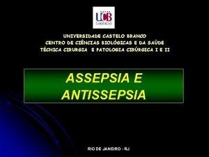 UNIVERSIDADE CASTELO BRANCO CENTRO DE CINCIAS BIOLGICAS E