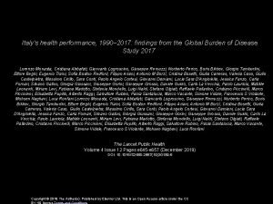 Italys health performance 1990 2017 findings from the