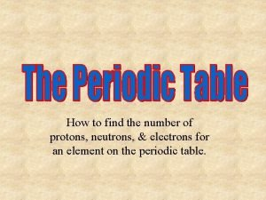 How to find the number of protons neutrons