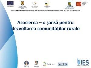 Proiect cofinanat din Fondul Social European prin Programul