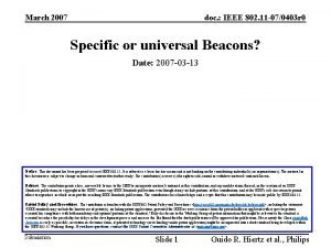 March 2007 doc IEEE 802 11 070403 r