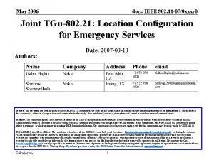 May 2006 doc IEEE 802 11 070 xxxr
