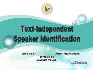 Alaa Spaih Abeer AbuHantash Directed by Dr Allam