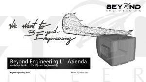 Beyond Engineering LAzienda Anthony Prada CEO Beyond Engineering