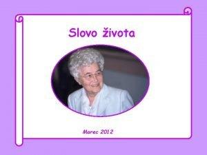 Slovo ivota Marec 2012 Pane a ku komu