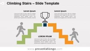 Climbing Stairs Slide Template Lorem Ipsum Lorem ipsum