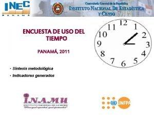 ENCUESTA DE USO DEL TIEMPO PANAM 2011 Sntesis