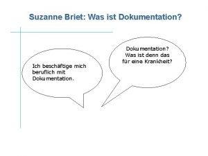 Suzanne Briet Was ist Dokumentation Ich beschftige mich
