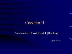 Cocomo II Constructive Cost Model Boehm Sybren Deelstra